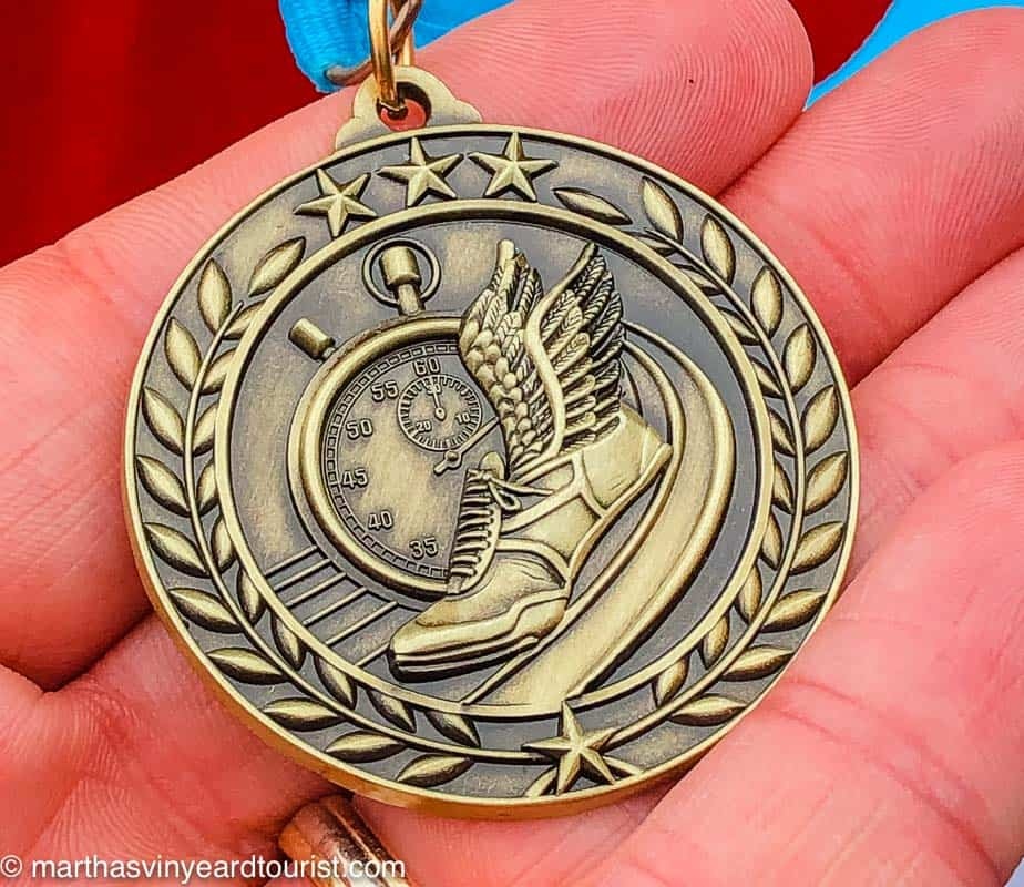 a medal for a road race