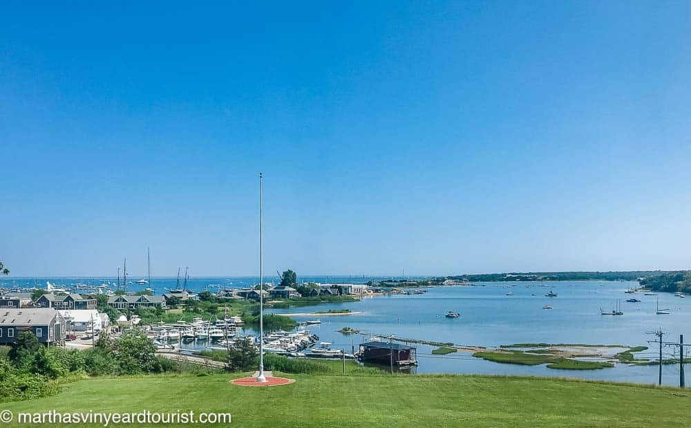view of Vineyard Haven harbor from the Martha's Vineyard Museum