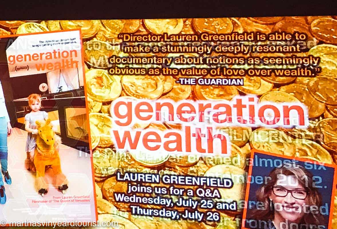 a poster for Generation Wealth screening and talk by Director Lauren Greenfield