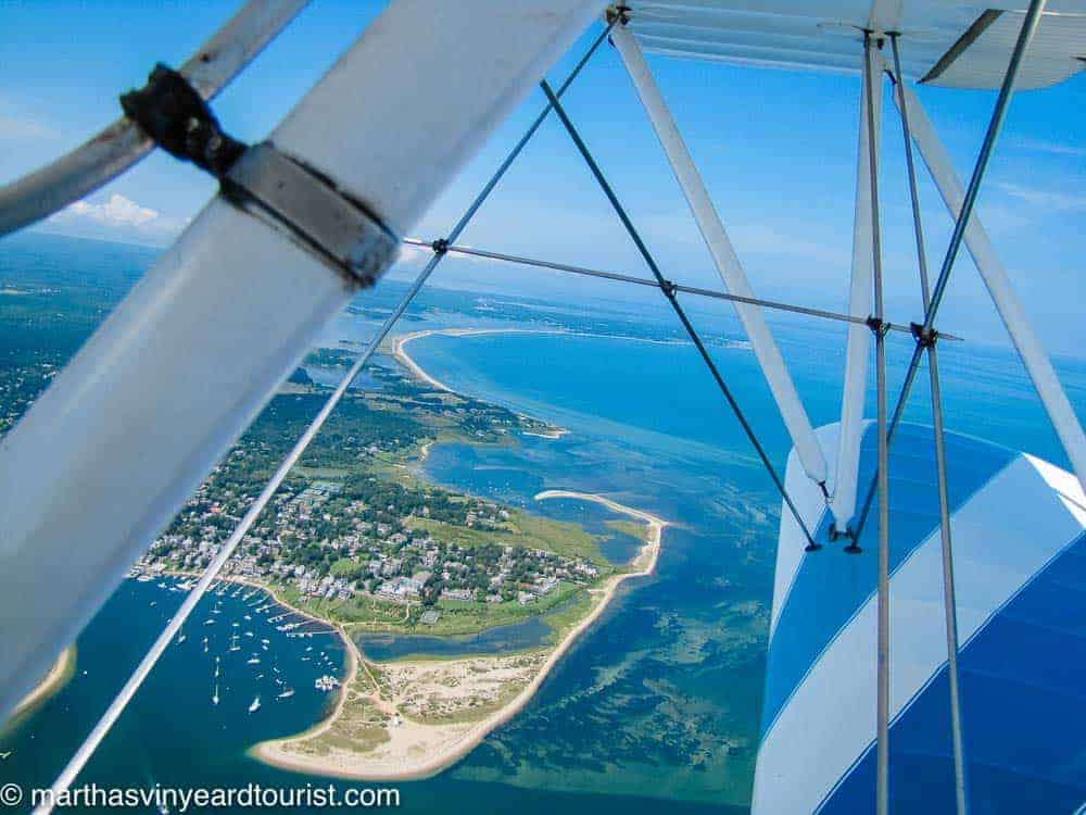 an aerial view of Chappy from a biplane ride