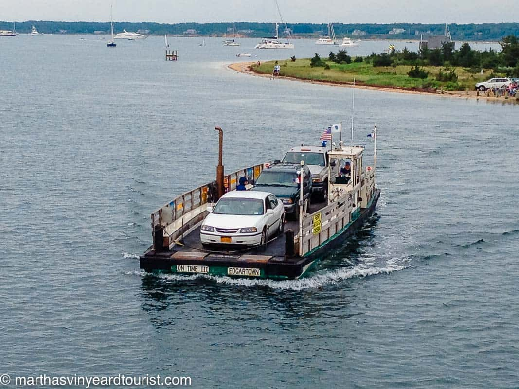 The Chappy Ferry en route to Chappaquidick.