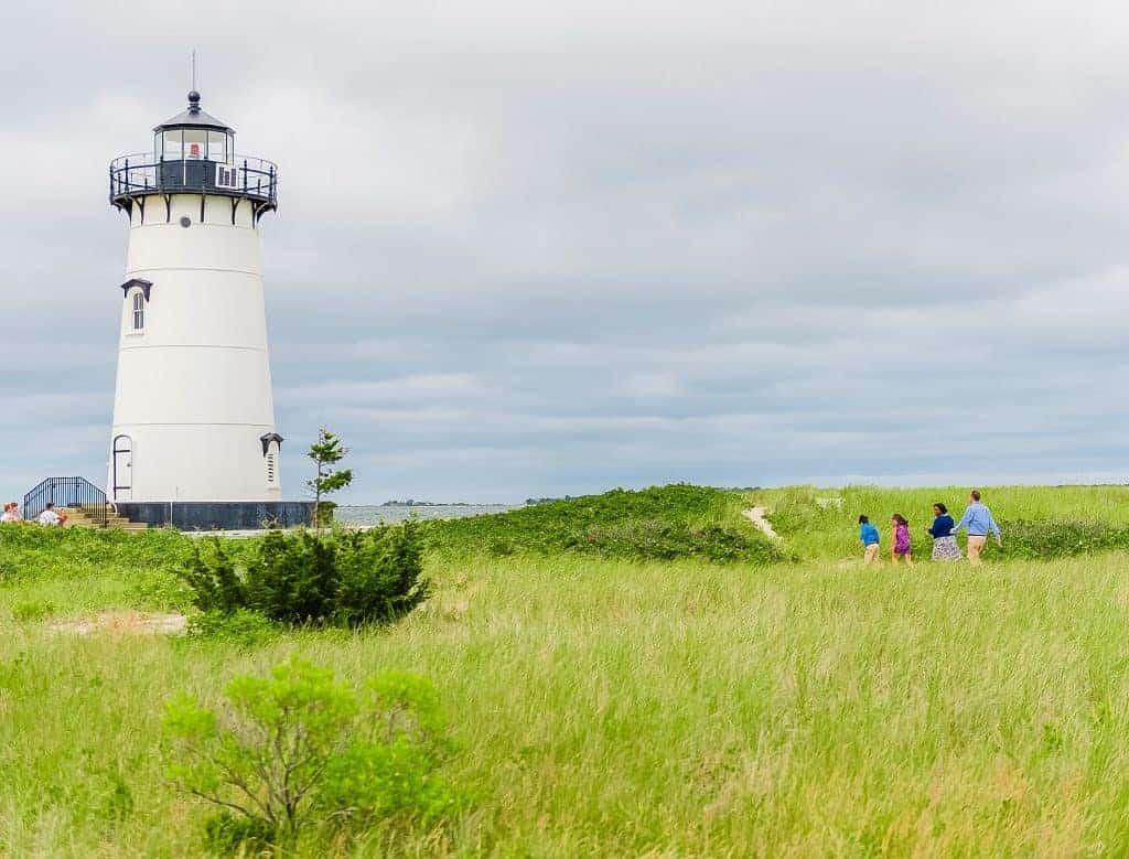 Edgartown lighthouse and grassy field