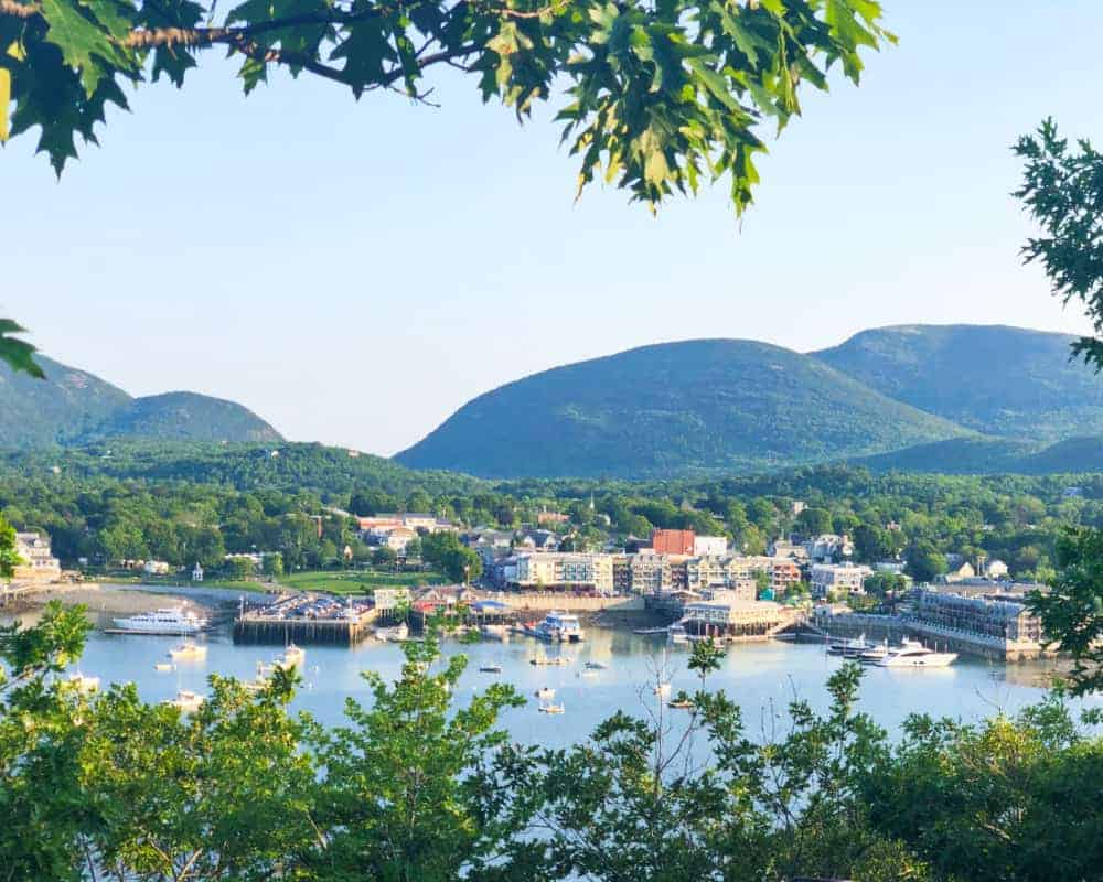 View of Bar Harbor in Maine