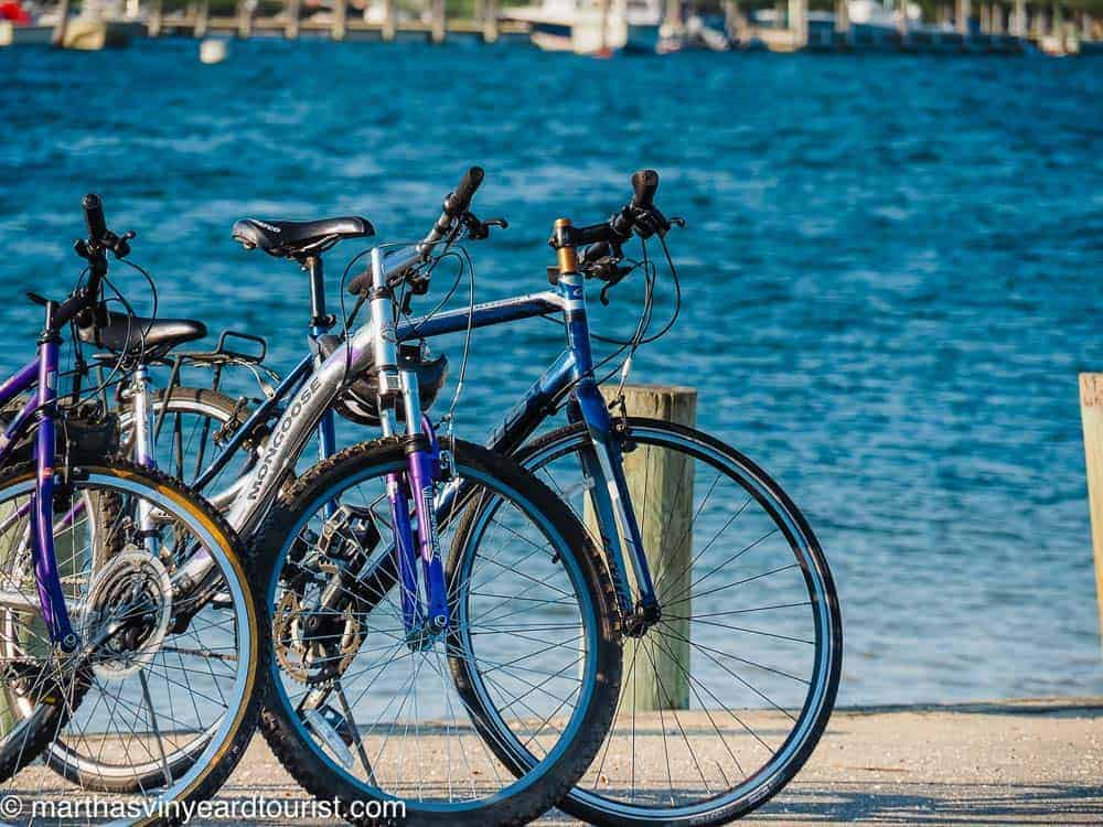 bikes at Edgartown Harbor