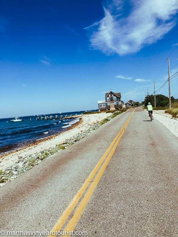 cycle on the road alongside the beach
