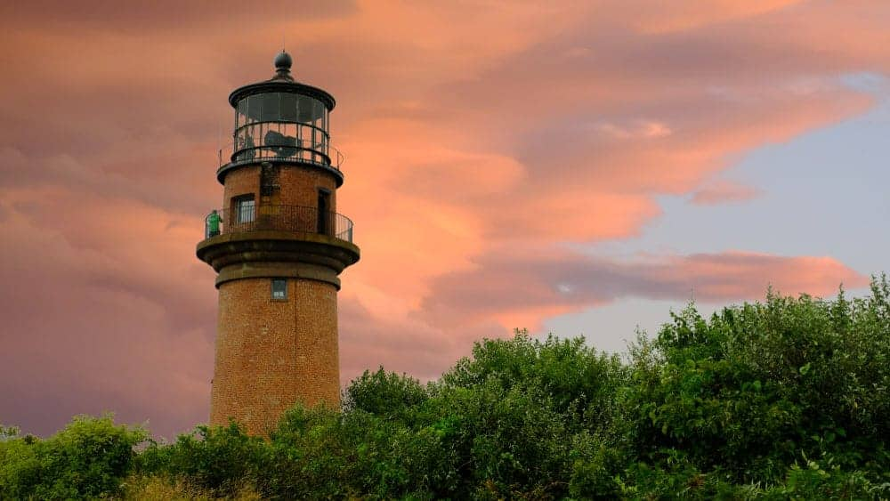 Aquinnah Lighthouse at Sunset