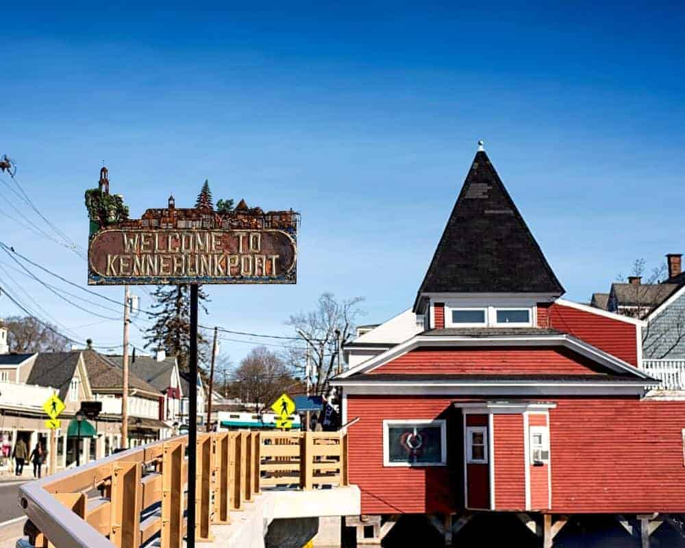 The bridge to Dock Square in Kennebunkport, Maine