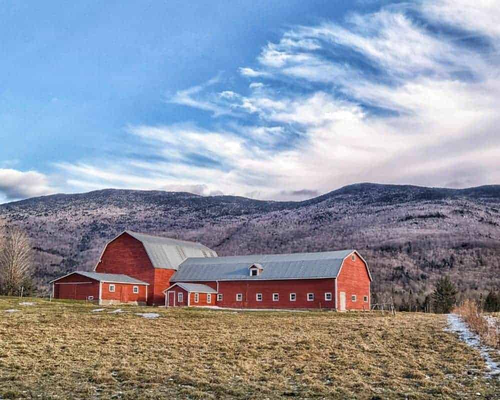 barn in Waterbury Vermont