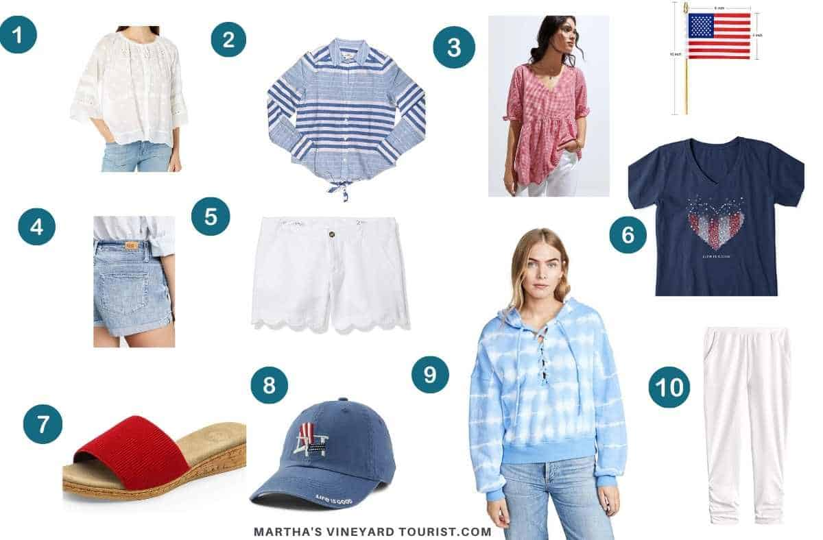 Moodboard of what to wear on July fourth