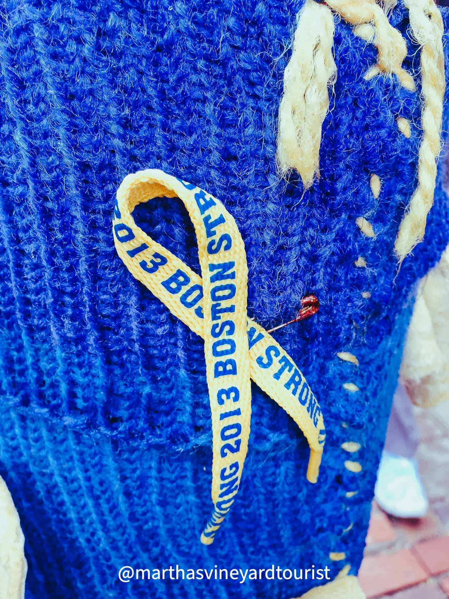 Boston Strong ribbon commemorating the Boston Marathon bombing in 2013