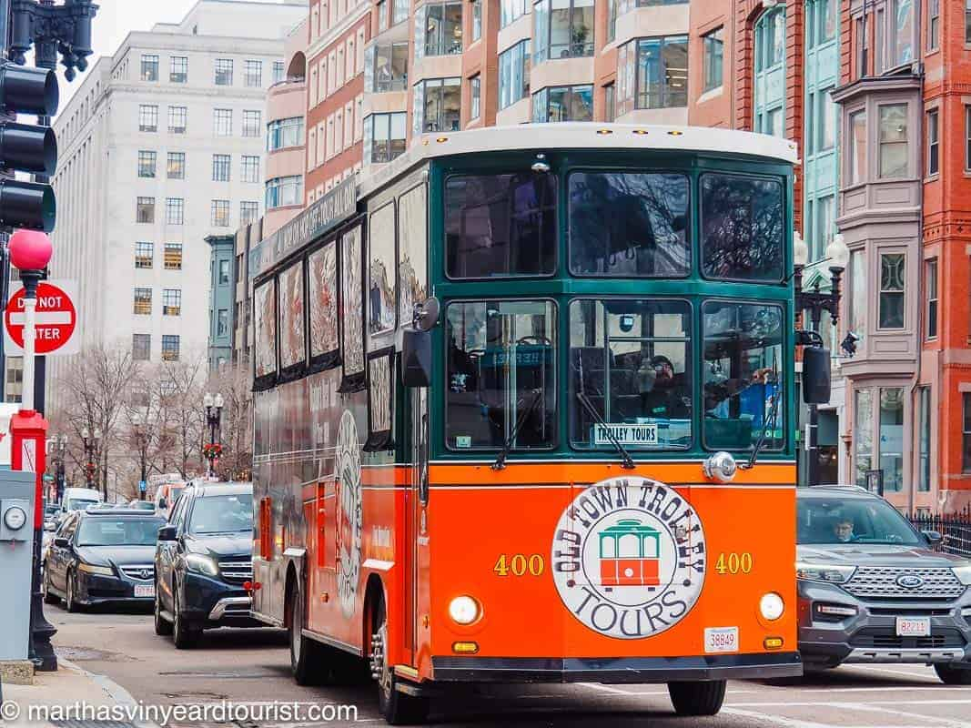 Old Town Trolley Tour in Boston USA
