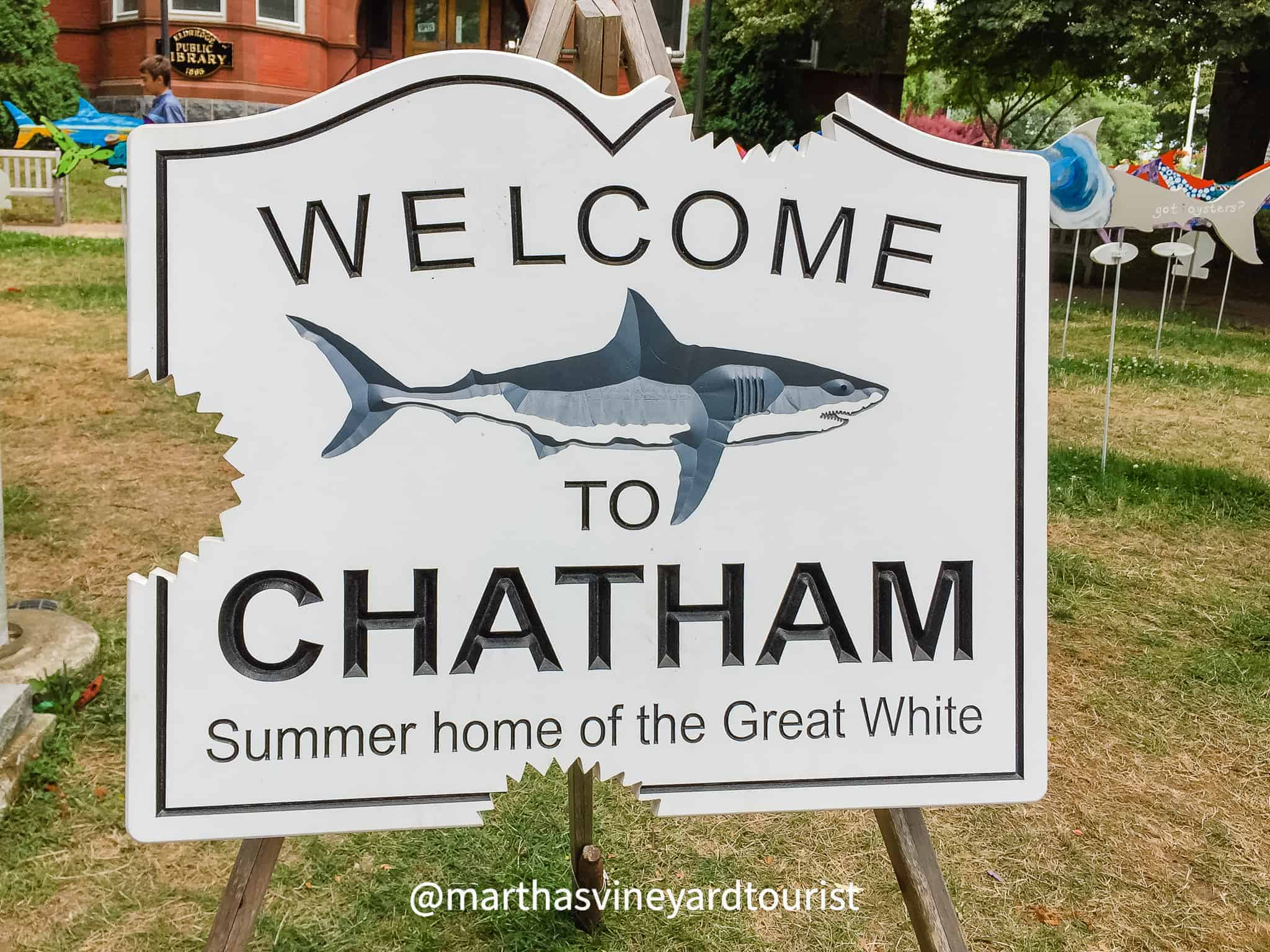 welcome to Chatham sign in Cape Cod