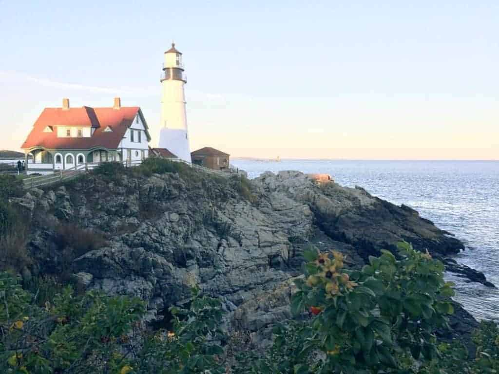 The lighthouse at Portland Maine