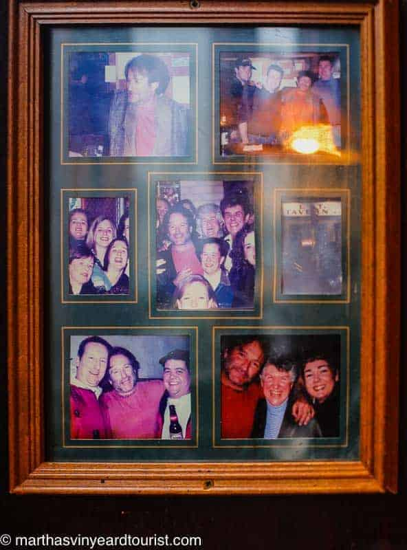 The cast of Good Will Hunting in photos at the L Street Tavern