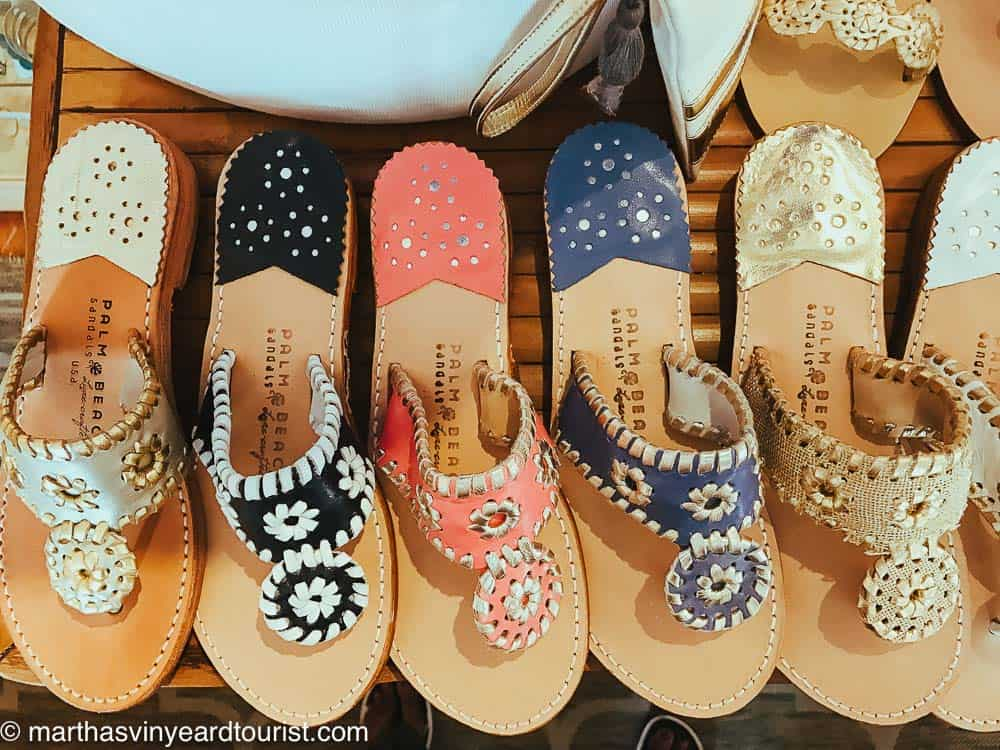 Jack Rogers sandals in blue, black, pink and natural.