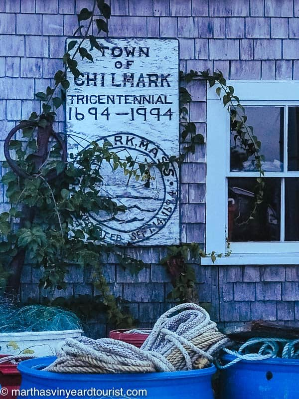 The town sign for chilmark