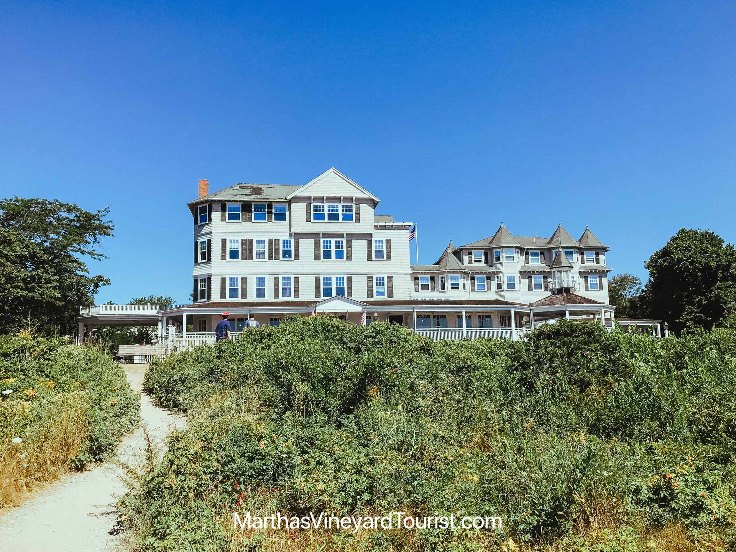Edgartown Harbor View Hotel from the beach