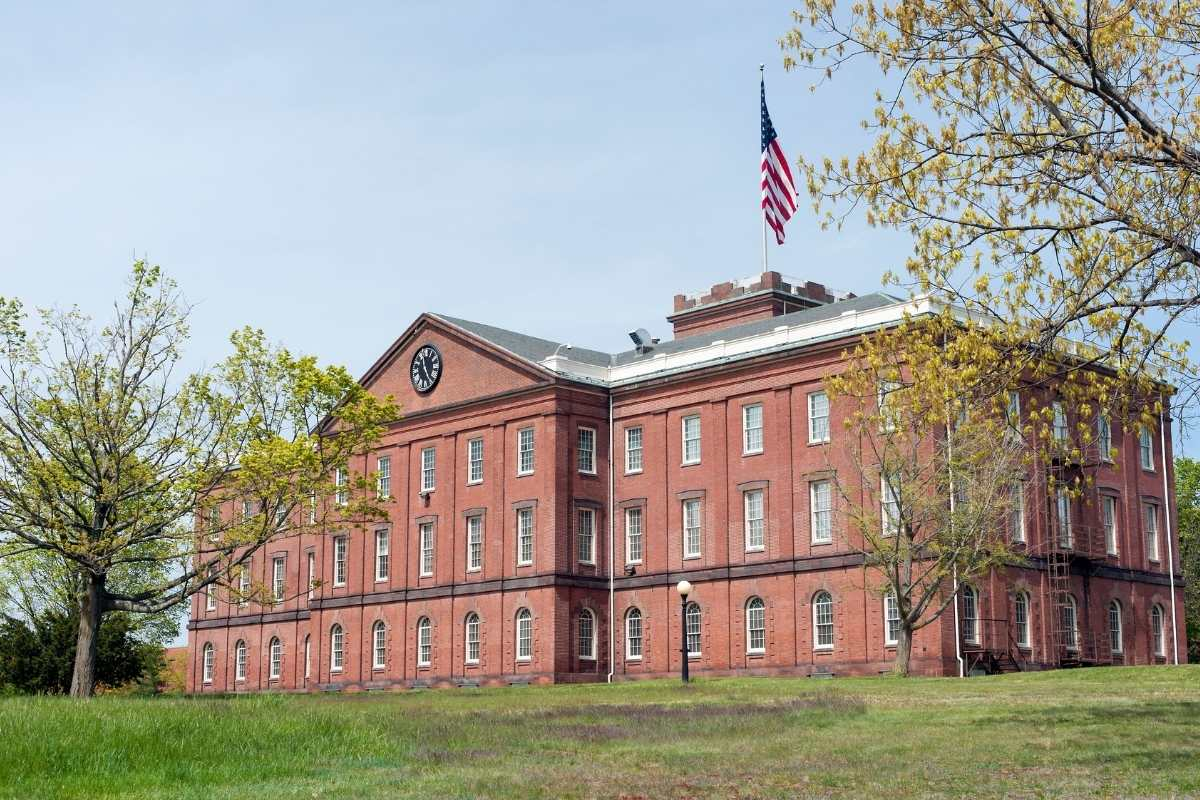 The Springfield Armory building in Massachusetts
