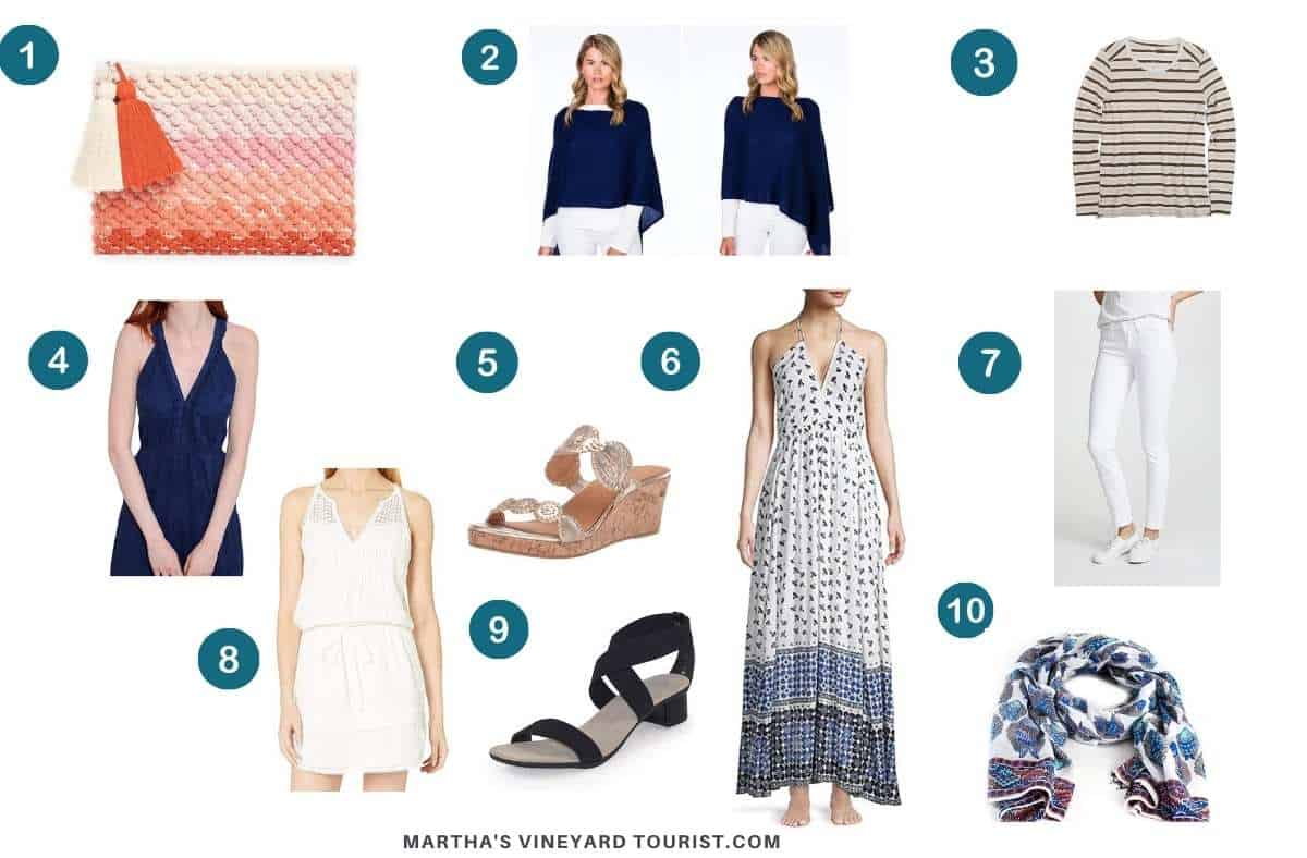 What to wear for an evening out in Martha's Vineyard for women.
