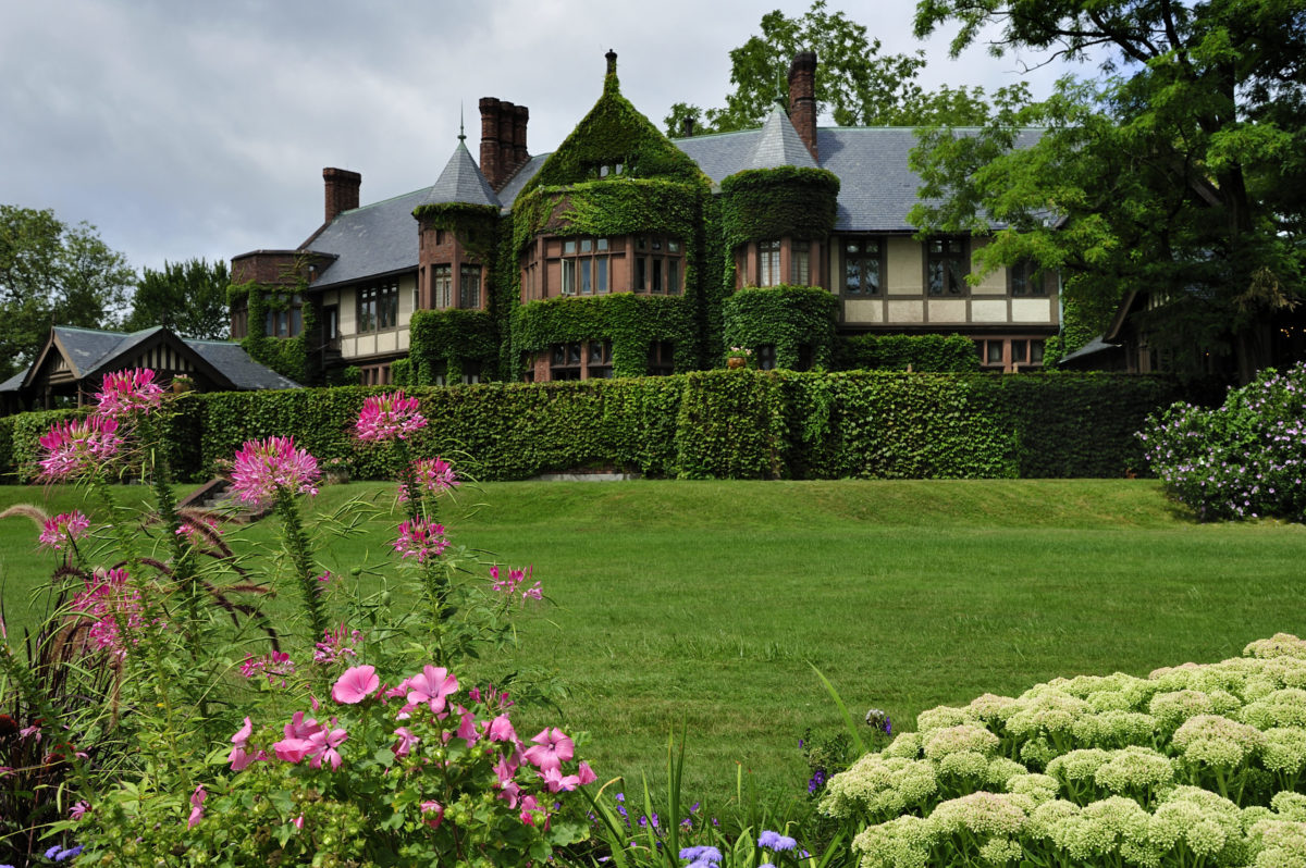 The gardens and hotel of Blantyre Hotel Lenox MA