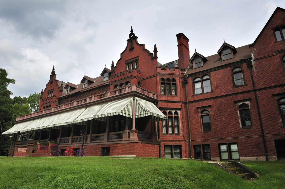 The red brick building that houses the Ventfort Hall and the Gilded Age Museum