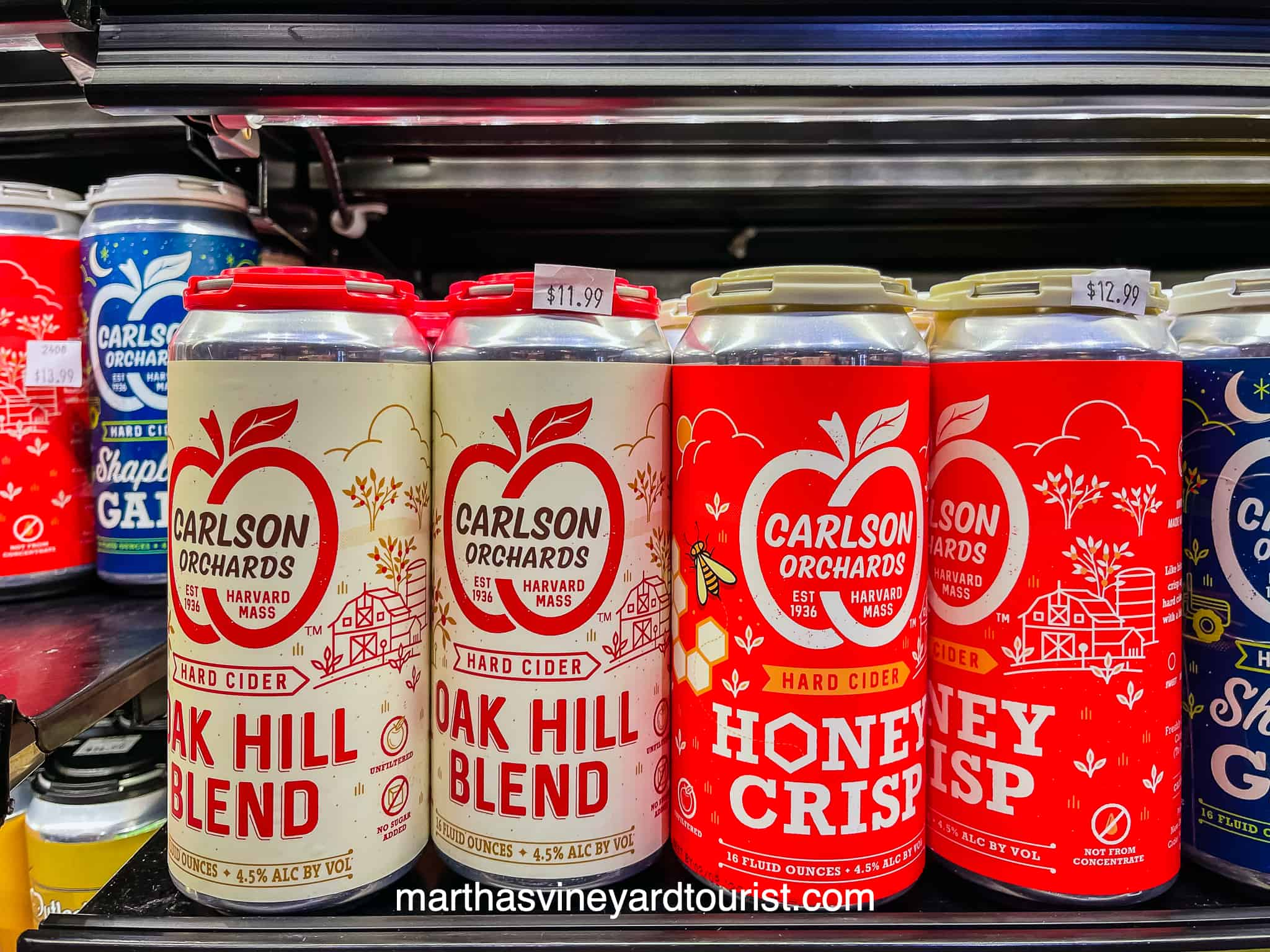 Carlson Orchards hard cider cans for sale
