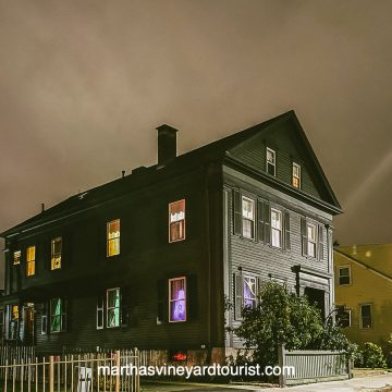 the Lizzie Parker house in Fall River Massachusetts during a ghost hunt